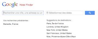 Google hôtel finder, réservation d'hôtel