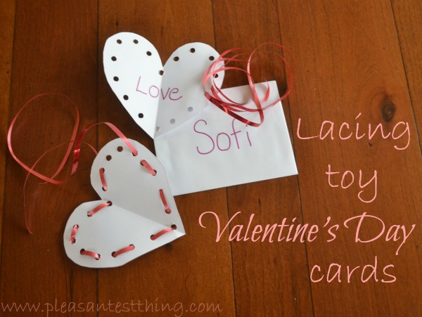 lacing toy Valentine's Day cards