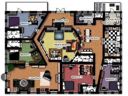Planos de casas modelos y dise os de casas planos de for Disenar habitaciones online 3d