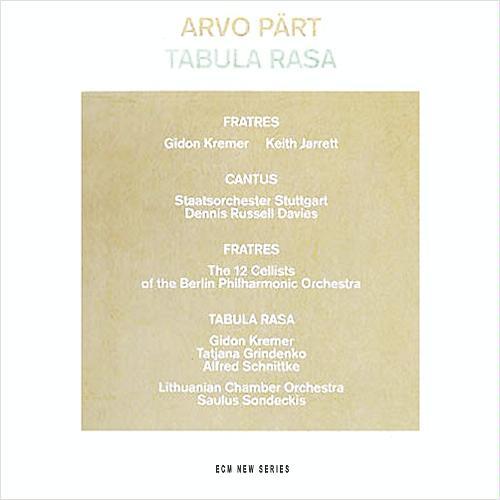Arvo Pärt - Tabula Rasa ( , CD) | Discogs