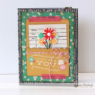 Just For You Card by Juliana Michaels using Pebbles From Me to You