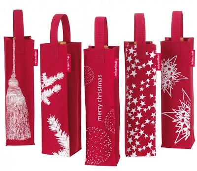 5 red wine bags for Christmas