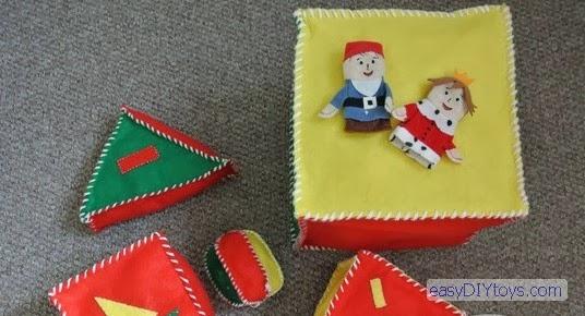 Homemade toys for the newborn