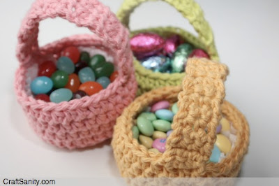 free crochet pattern mini easter basket