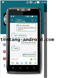 Download BBM Android Beta v.29 Apk Theme Blue Sky