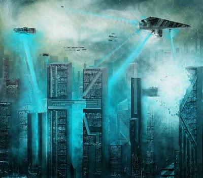 concepto futurista ciudad
