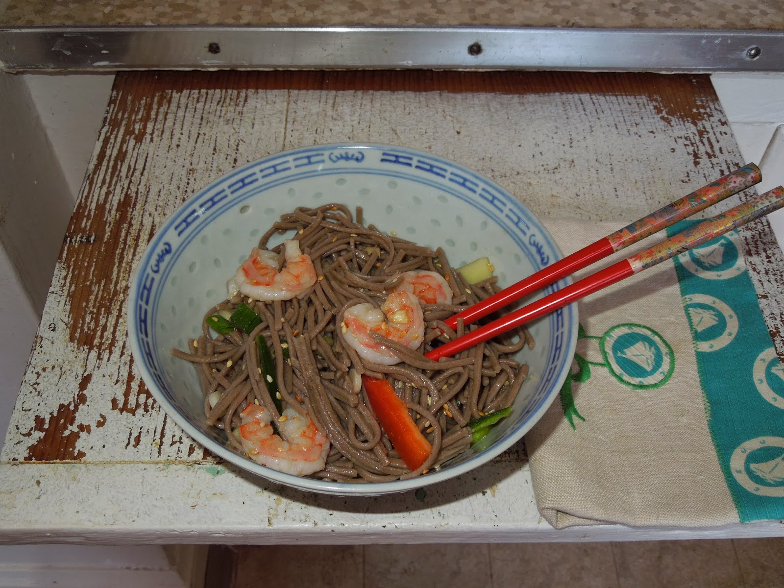 Pacific Rim Noodle Salad, Asian cooking, gluten free recipes, gluten free cooking.