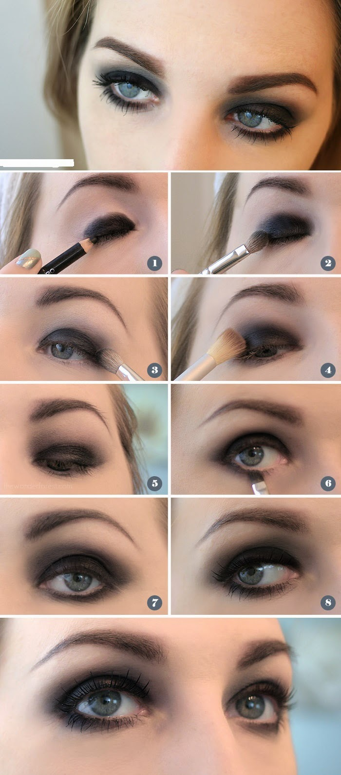 EASY BLACK SMOKEY EYE TUTORIAL