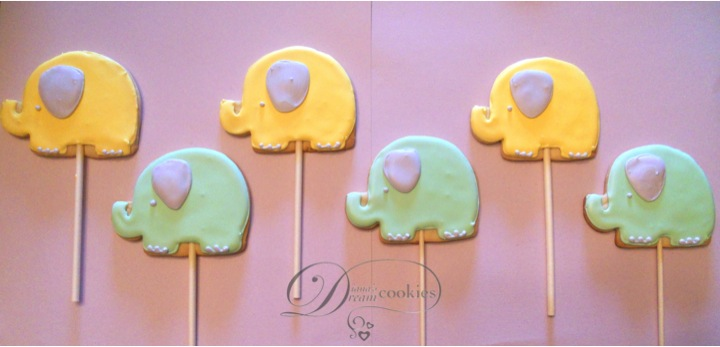 Dianas Dream Sweets Elephant Baby Shower Cookies And Centerpiece