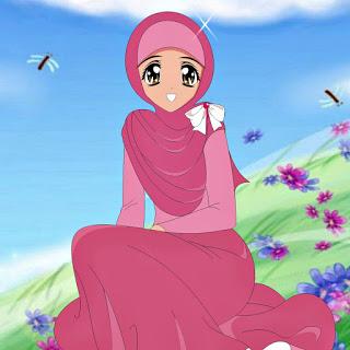 dp kartun muslimah