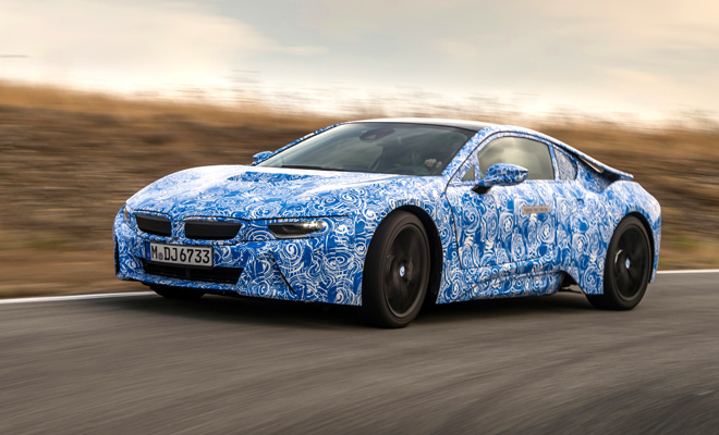 BMW i8 prototype front side view