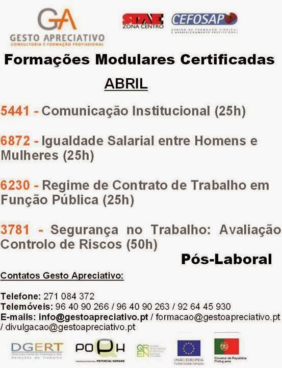Cursos financiados Guarda 2014 (Formação modular certificada)