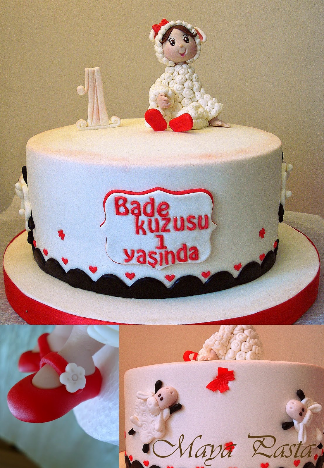 Baby sheep cake