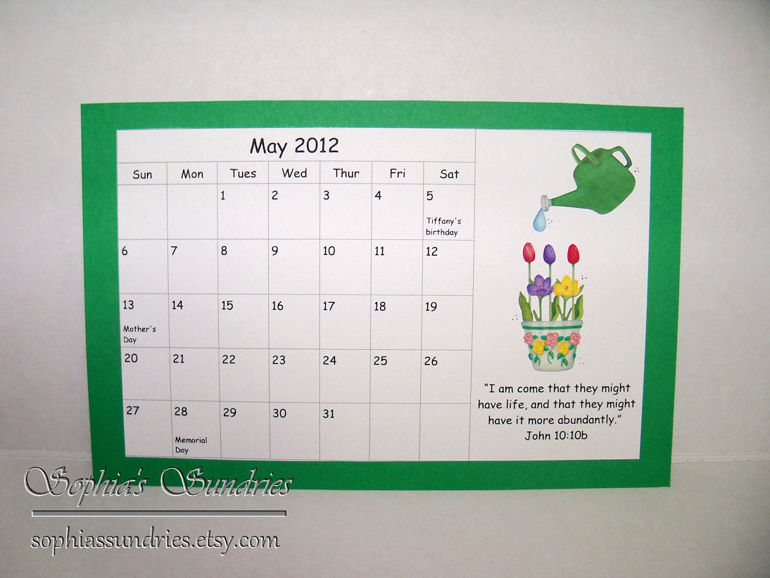 May Calendar Decorations : May calendar craft ideas new template site