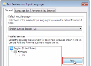 Windows 7 - Add keyboard input method