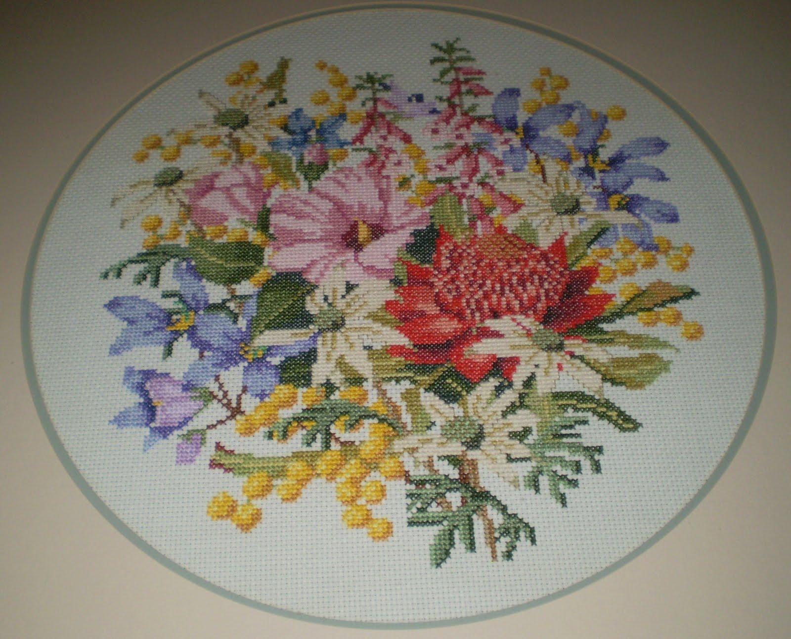 Australian Native Flowers Embroidery Designs