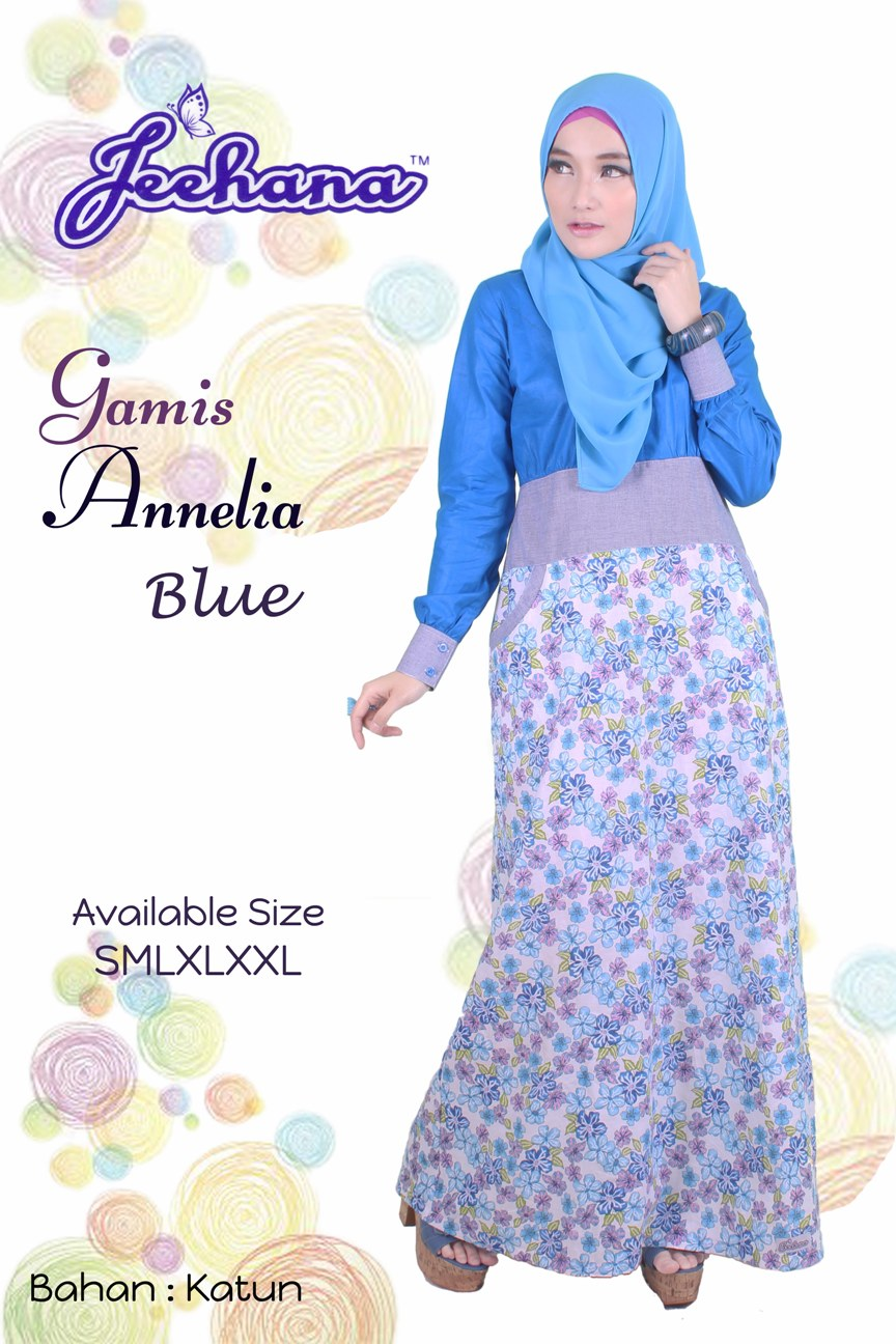 Baju Muslim Terbaru 2017 Online Baju Gamis Annelia Jeehana