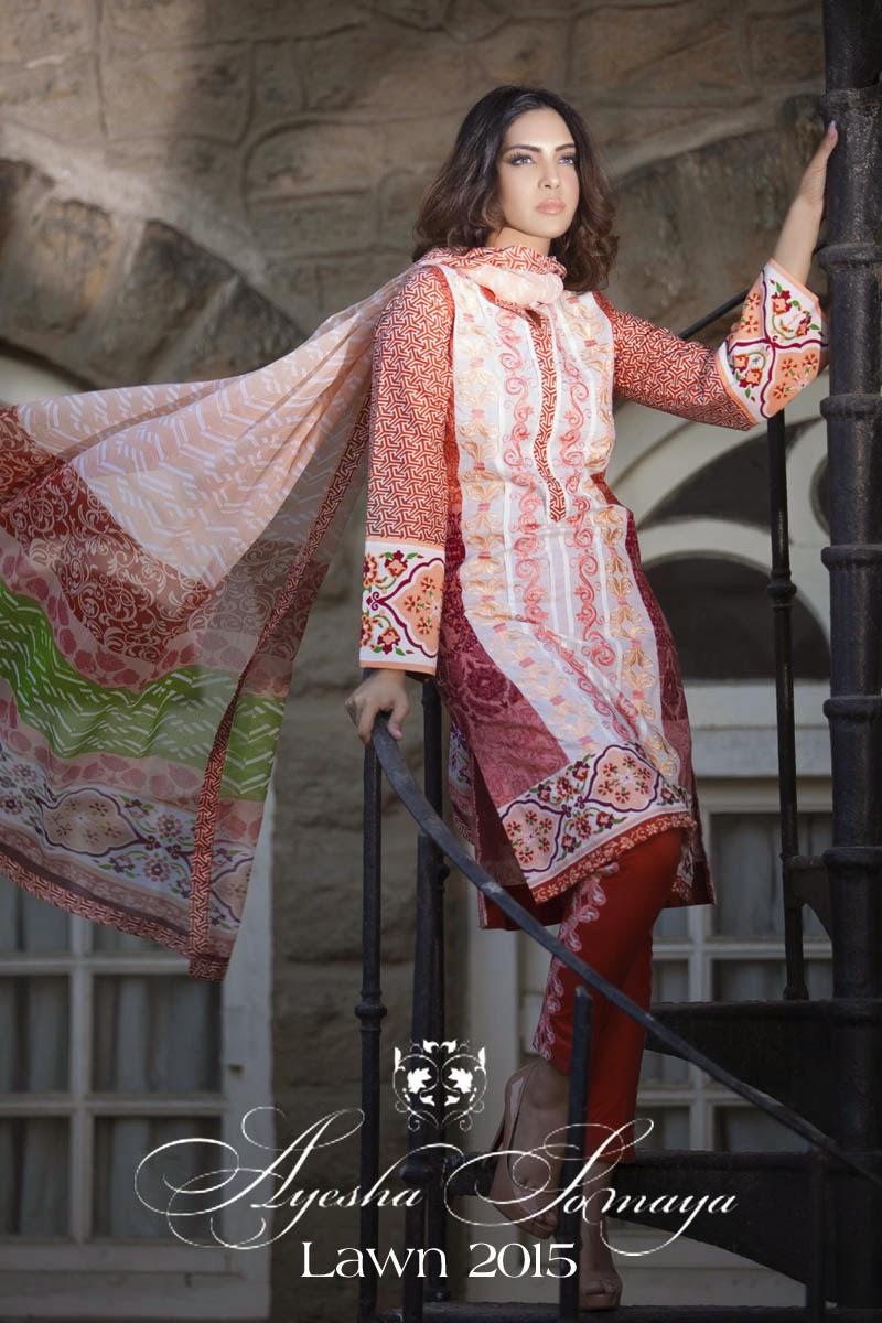 Ayesha Somaya designer lawn collection 2015