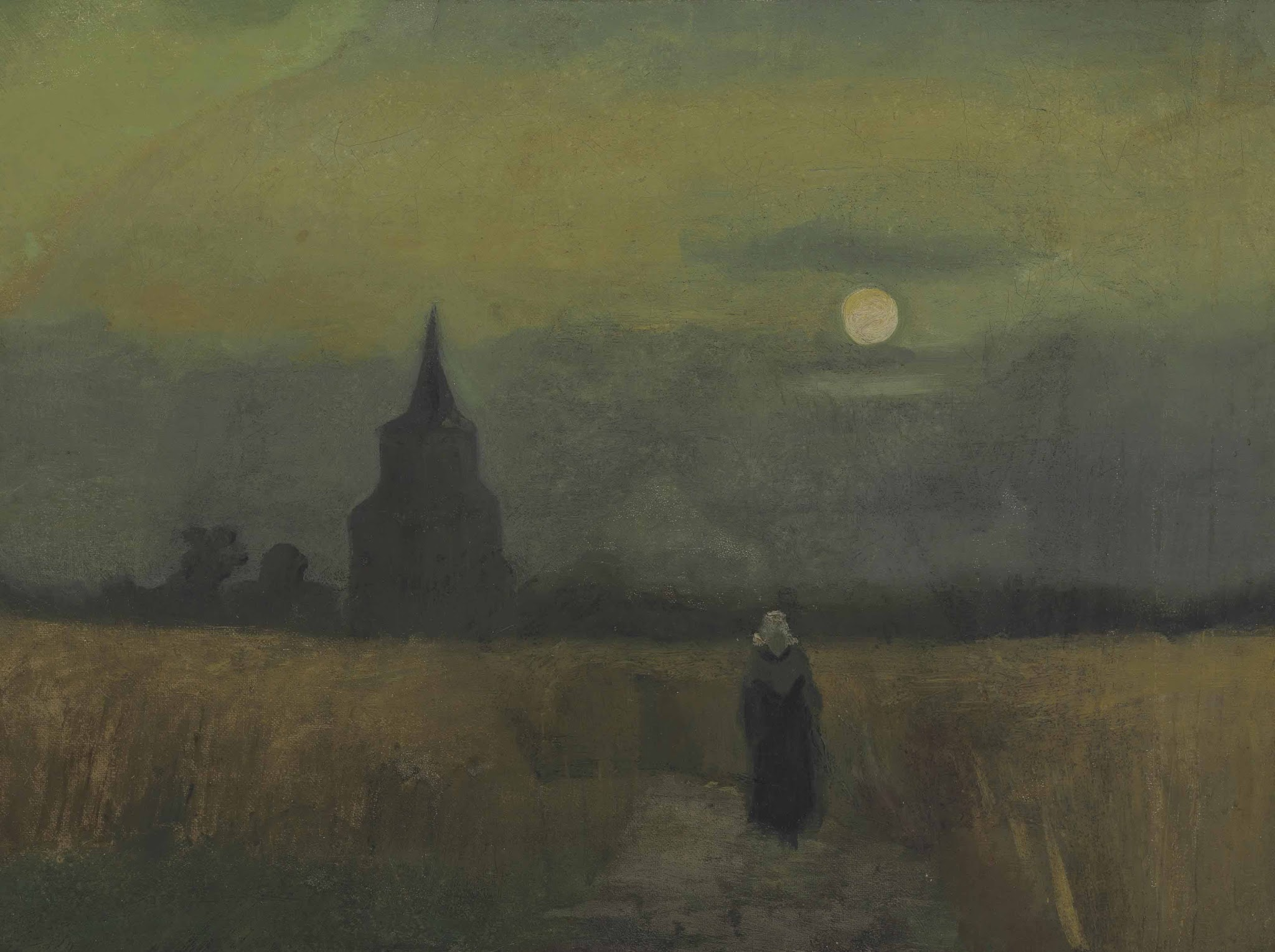 The Old Tower in the Fields by Vincent van Gogh