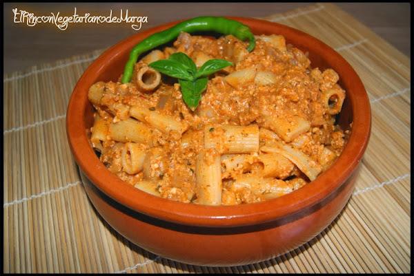 Receta del día: macarrones con boloñesa vegetariana