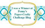 I Won at Penny's Paper Crafty Challenge 24/10/2012