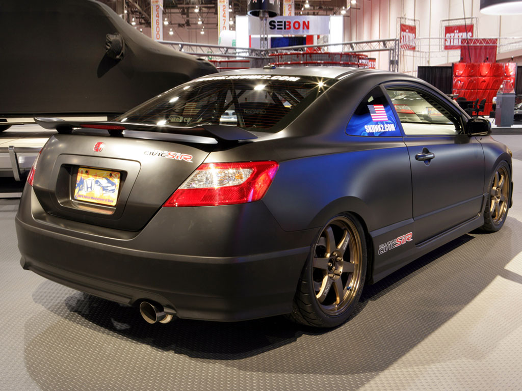 murdered out cars murdered out 2006 honda civic si r skunk2. Black Bedroom Furniture Sets. Home Design Ideas