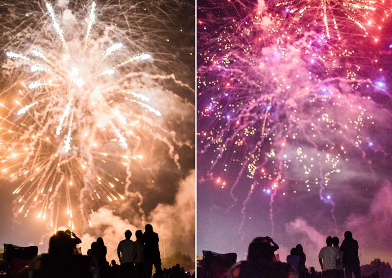 Gilroy High School July 4th fireworks show 2014