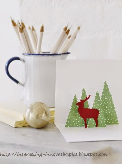 Diy christmas deer tree pop up card diy christmas pop up greeting cards m4hsunfo