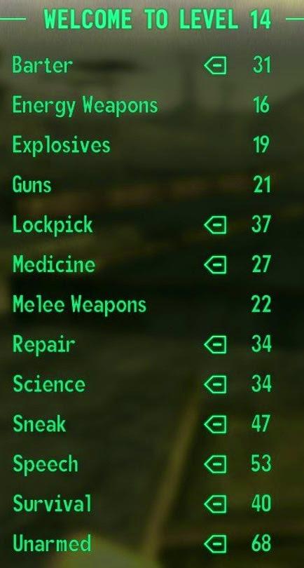 Level 14 stats