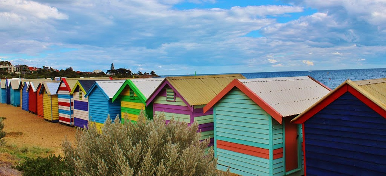 Small Colorful Beach Homes