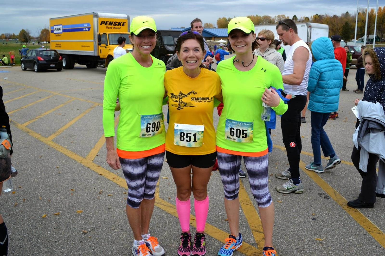 Zeitgeist Half Marathon, matching running outfits