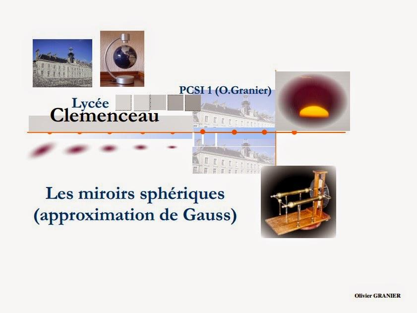 Miroires Sphériques cours complet d'optique géométrique