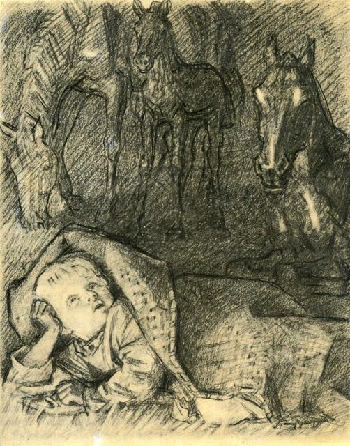 рисунок бежин луг федя
