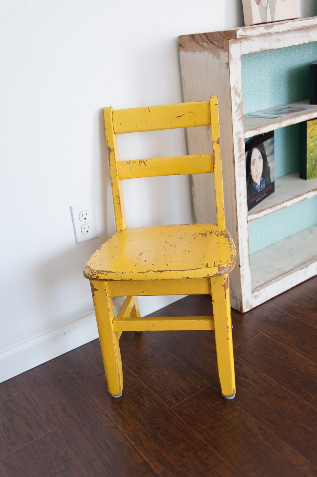 Vintage Yellow chair adds a pop of color to studio