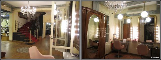 Salon Coiffirst Saint Germain des Prés boudoir miroir rue Dufour Paris 6ème