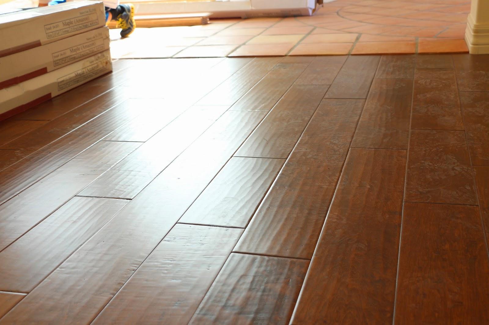 hand scraped maple engineered wood floors