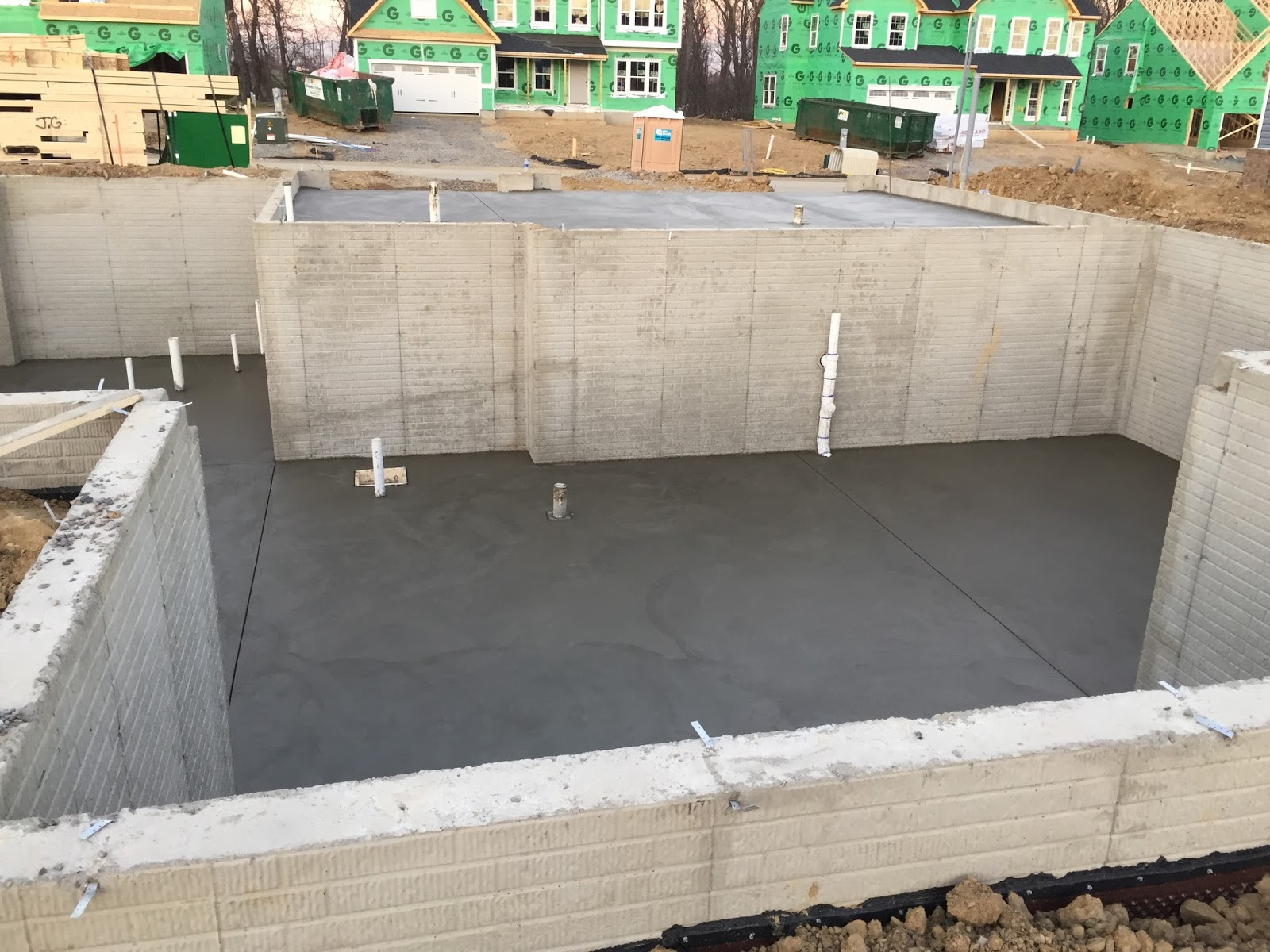 Our slab is poured landon it is for Garage slabs