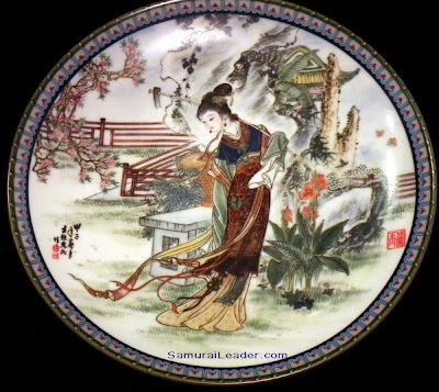 Tai-yu plate Imperial Jingdezhen Porcelain