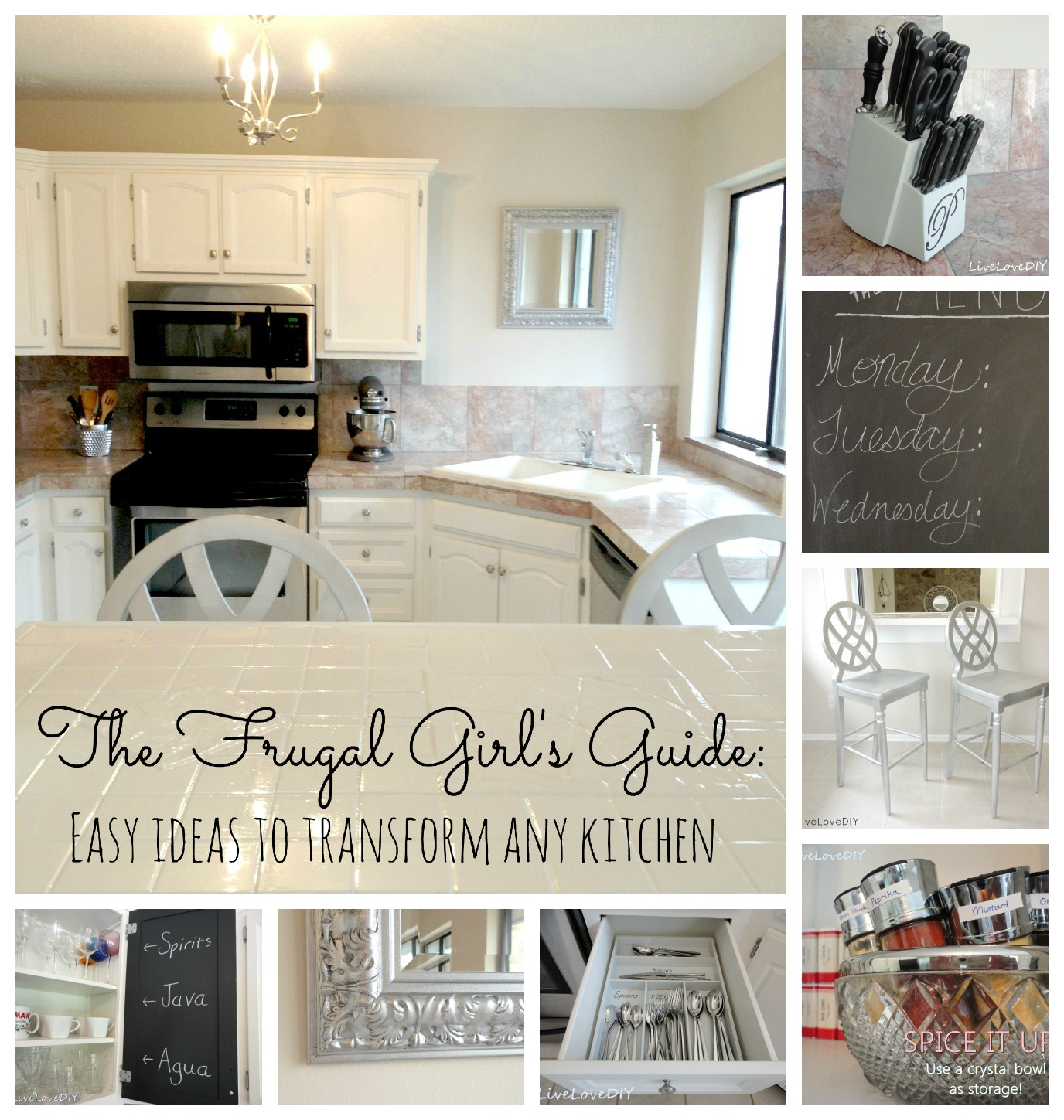 Livelovediy creative ways to update your kitchen using paint for Update my kitchen on a budget
