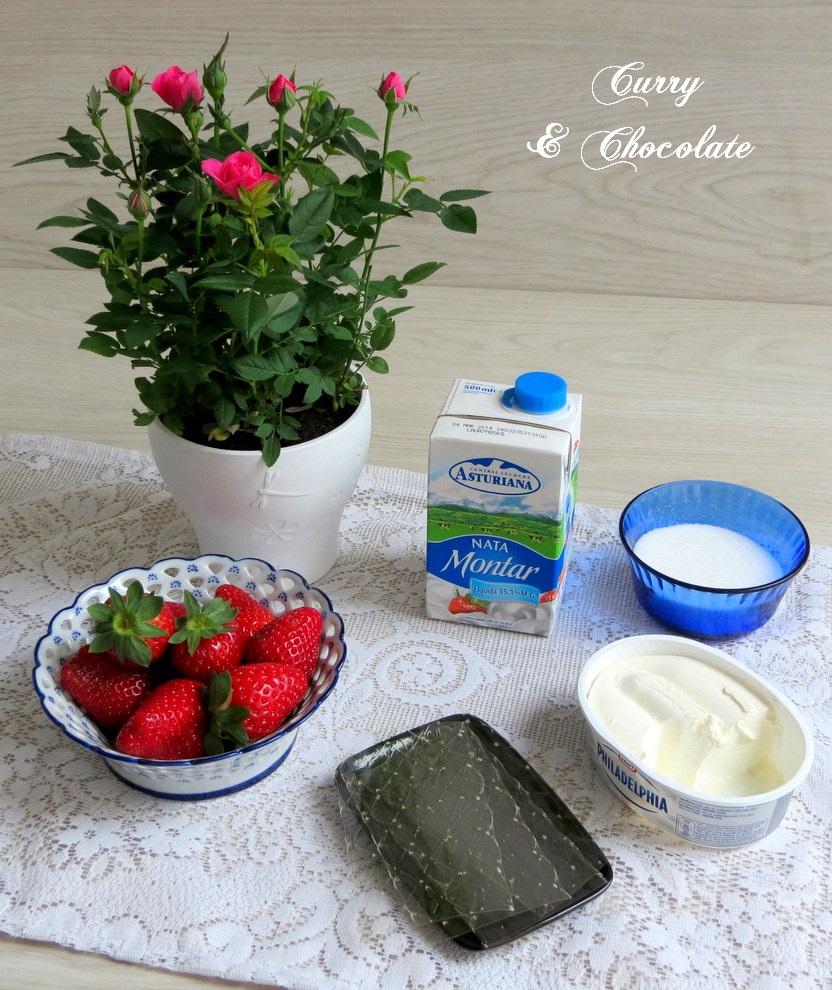 Creamy strawberry mousse