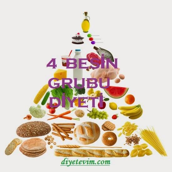 4 besin grubu diyeti
