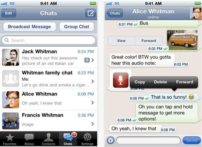 Whatsapp Messenger gratis para iPhone