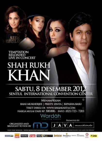 Shahrukh Khan Konser di Indonesia