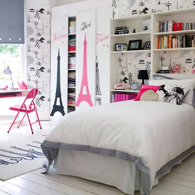 эйфелева башня в комнате для девочки подростка фото