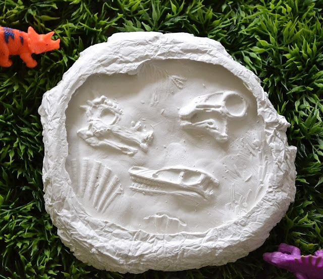 Jurassic World Birthday Party Ideas; make your own fossils