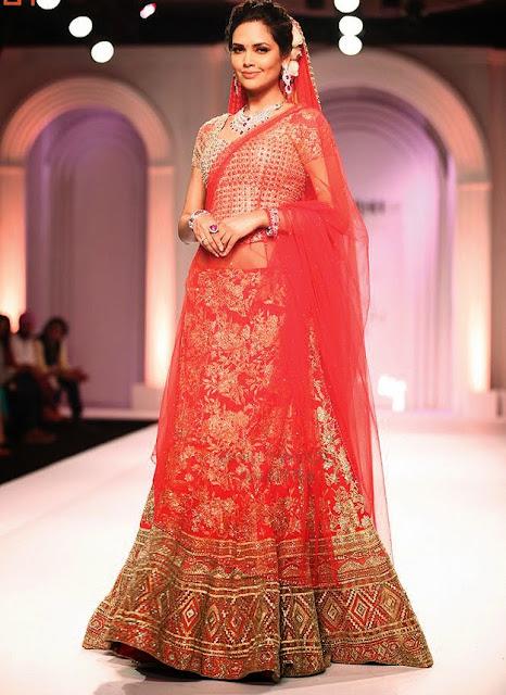 Esha Gupta in Bridal Lehenga