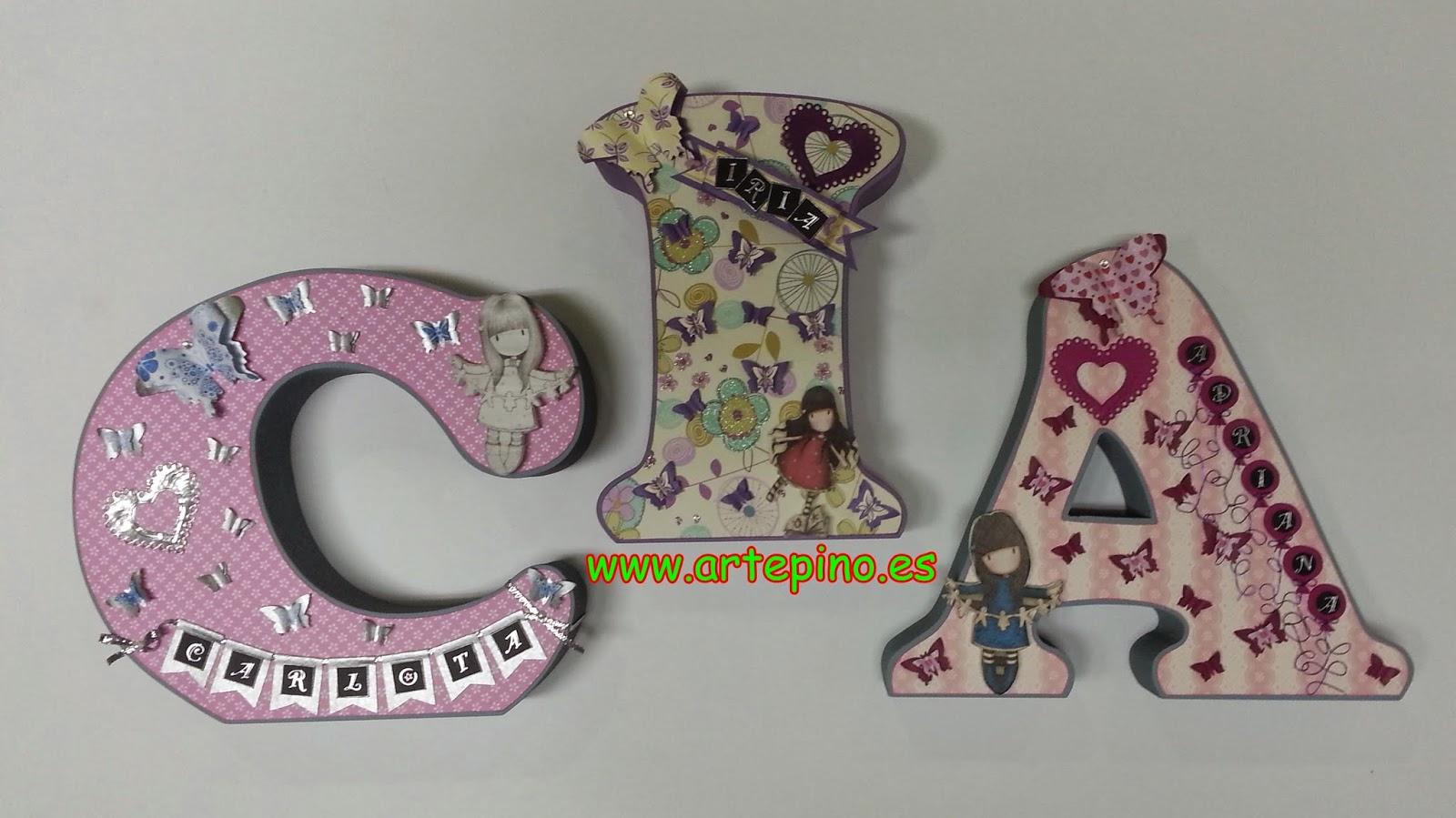 Artepino letras scrap - Letras decoradas scrap ...
