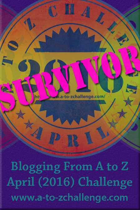 April A-Z Survivor Badge