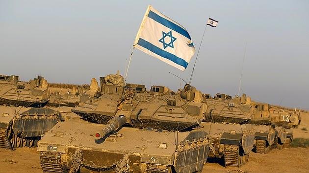 la-proxima-guerra-tanques-israelies-bandera-de-israel-guerra-de-desgaste-franja-de-gaza