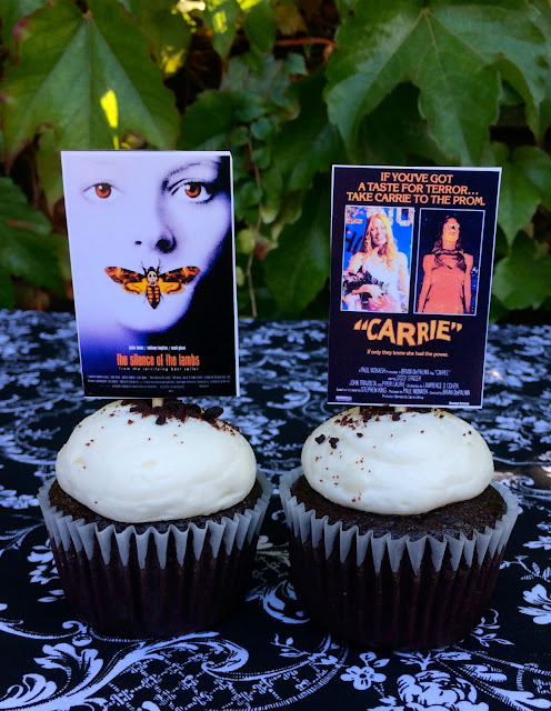 Halloween Cupcakes with Horror Movie Toppers | www.jacolynmurphy.com